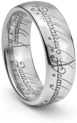 Elvish BLACK Unisex Men Women TUNGSTEN CARBIDE  Wedding Band Ring 7MM