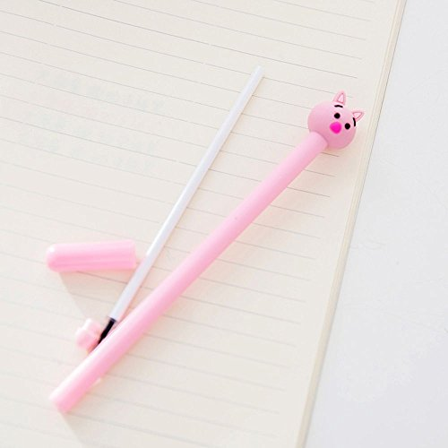 GOOTRADES 8 Pack Cute Pig Writing Gel Ink Pen for Office School Student ,0.38 mm Tip Photo #5