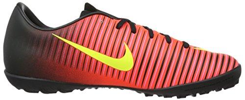 Nike Jr Mercurialx Vapor Xi Tf, Botas de Fútbol Unisex Bebé Naranja (Total Crimson / Vlt-Blk-Pnk Blst)