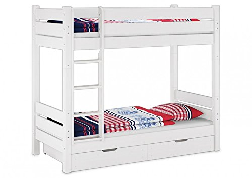 Hochbett Erwachsene 100x200 : Erst holz etagenbett für erwachsene kiefer weiß