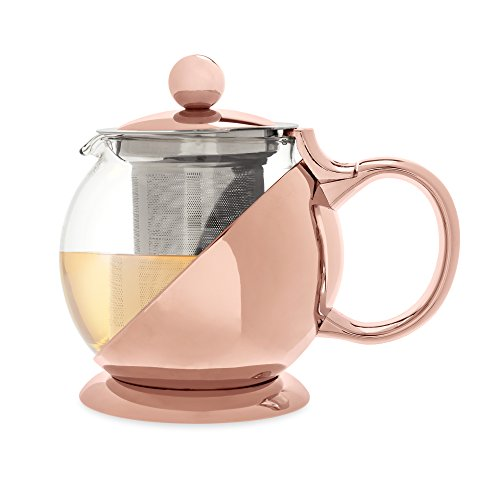 Teapot & Infuser In Rose Gold
