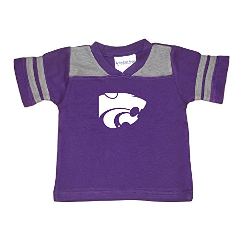 Two Feet Ahead NCAA Kansas State Wildcats Toddler Boys Football Shirt, Purple, (Kansas State Football Jersey)