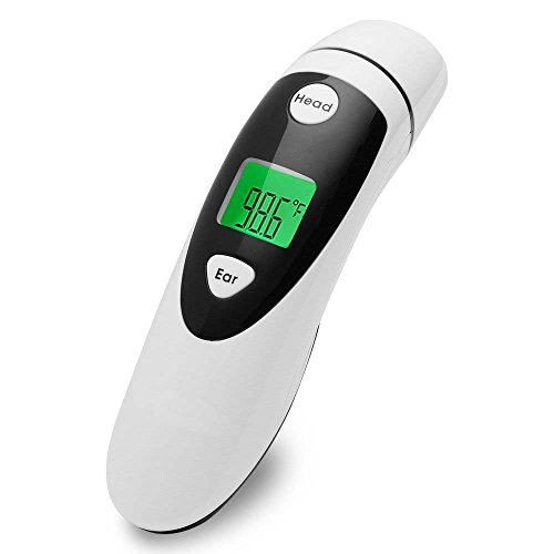 Forehead and Ear Thermometer Dual Mode - Digital Display Accurate Temperature Medical Design Get Instant Readings for Baby & Adult - FDA Approved by MAIYUAN