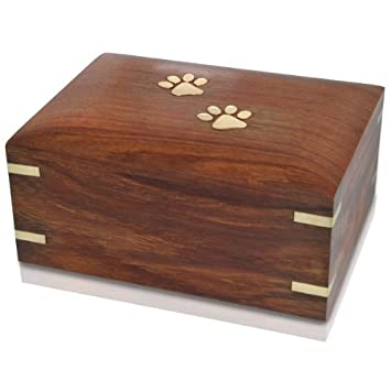 Memorial Gallery Forever Paw Prints Wooden Box Pet Urn