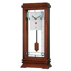 Bulova B1839 Frank Lloyd Wright Willits Mantel Clock, 14, Walnut
