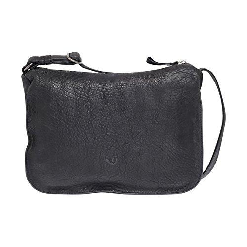VOI Leather Design con zip Tasche Nero