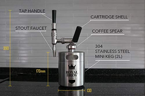 Royal Brew Nitro Cold Brew Coffee Maker Kit 64 Ounce Stainless Steel Keg Homebrew System 2.0 by Royal Brew (Image #4)