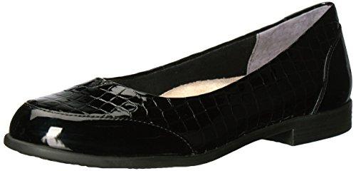 Trotters Women's Arnello Ballet Flat Black Crocodile 10 M US from Trotters