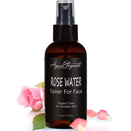 Rosewater Toner For Face - Hydrating Face Mist With Fresh Organic Rose Water Spray To Calm Your Skin - Alcohol-Free Skincare + Anti-Aging Beauty Wash With Natural Antioxidants & Vitamins