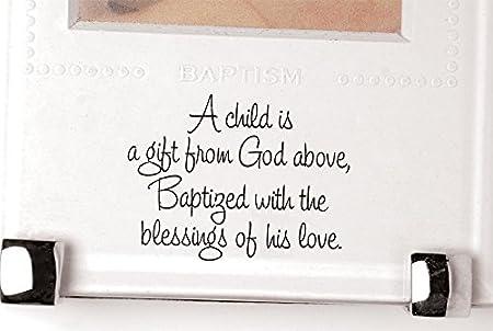 Mud Pie Baptism Frame GodS Gift