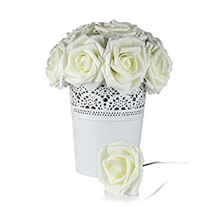 Umiss Roses Artificial Flowers Fake Flowers Wedding Decorations Set 50pcs Artificial Flora DIY Wedding Home Office Party Hotel Restaurant Patio Yard Decoration 3