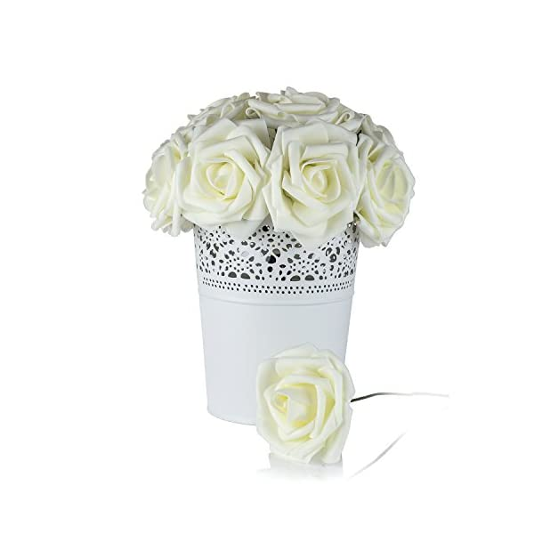 Umiss-Roses-Artificial-Flowers-Fake-Flowers-Wedding-Decorations-Set-50pcs-Artificial-Flora-DIY-Wedding-Home-Office-Party-Hotel-Restaurant-Patio-Yard-Decoration