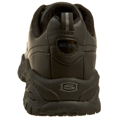 Slip Stride for Lace Work Soft Resistant Softie Skechers Women's Black Up W4Z6TqFYq