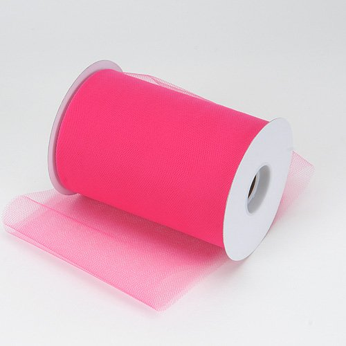 FUCHSIA Tulle 6in x 300ft (100 yards) roll.
