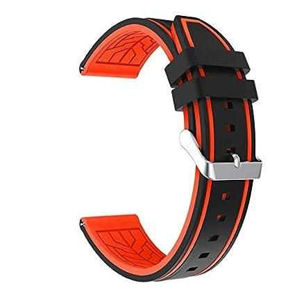 Amazon.com: Jewh Sports Strap - Smart Watch Silicone Bracelet - Strap Band Samsung Gear S3 - Frontier Wrist Straps Watch Band Samsung (Black Orange): Cell ...