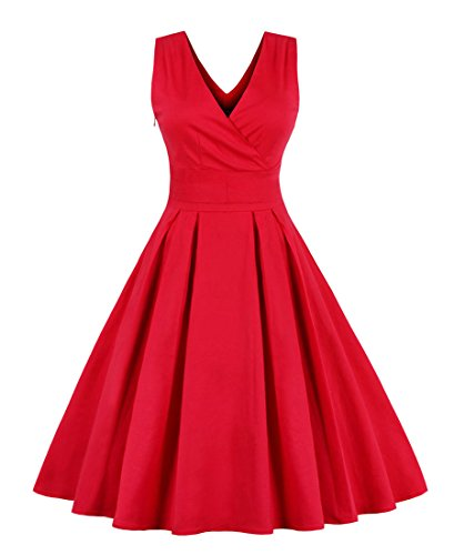 Killreal-Womens-Vintage-1950s-Style-Casual-Cocktail-Dress-for-Christmas-Holiday