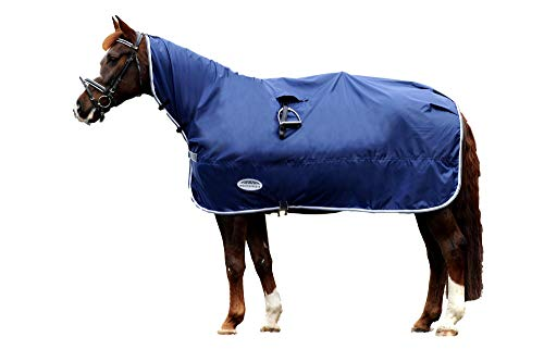 Weatherbeeta Rain Sheet, Navy/Grey/White, Warmblood