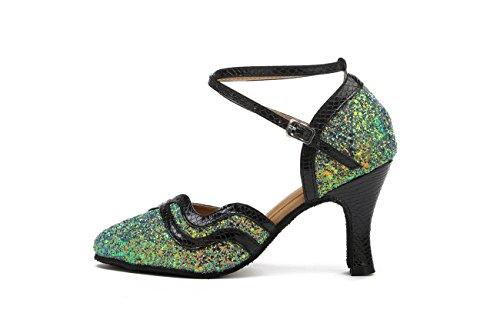 Miyoopark - salón mujer Green-8cm Heel