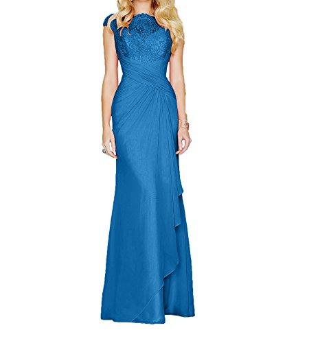 Lang Partykleider Abendkleider Marie La Ballkleider Dunkel Elegant Brautmutterkleider Braut Etui Blau Pfirsisch 2017 wrqMXg8qY