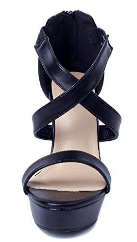 Toe Sandali Tacco Alto Frange Shoes Donna AgeeMi Peep Sintetico 4IFx0ww8