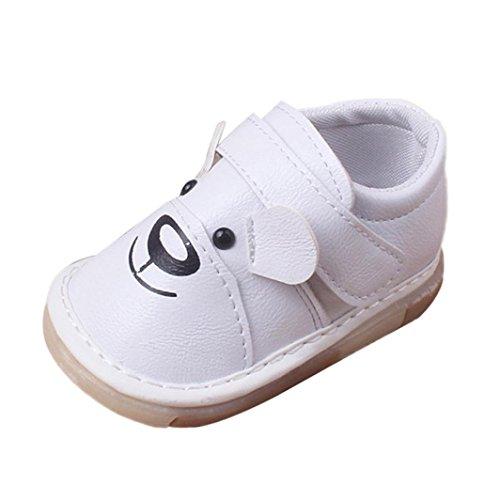 e6c063ffb544a2 Clode® Neugeborene Säuglingsbaby Jungen Mädchen Karikatur Leder einzelne  Schuhe beiläufige flache Schuhe Weiß