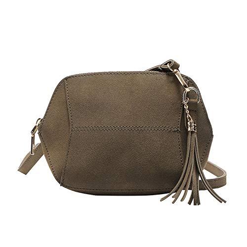 Louis Vuitton Zippy Organizer - Fashion Women Solid Color Shoulder Bags Nubuck Leather Messenger Bag Zipper Crossbody Bag,Green