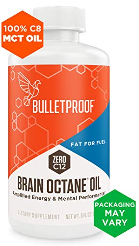 (Bulletproof Brain Octane MCT Oil, Perfect for Keto and Paleo Diet, 100% Non-GMO Premium C8 Oil, Ketogenic Friendly, Responsibly Sourced from Coconuts Only, Made in The USA (3 oz))