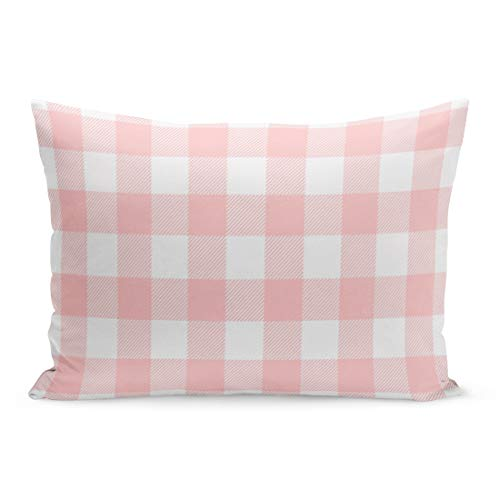 (Aikul Throw Pillow Covers Stripes Pink Preppy Buffalo Check Plaid Modern Pillow Case Cushion Cover Lumbar Pillowcase Decoration for Couch Sofa Bed Car,20 x 26 inchs)
