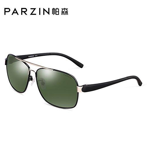 la Negro polarizadas negro moda gafas de gris Black pionero KOMNY gafas nuevos Tablets Green sol conducción de marco de gafas Gafas Box hombres txAnzSwqT