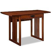 Leick 82420 Mission Oak Drop Leaf Computer/Writing Desk