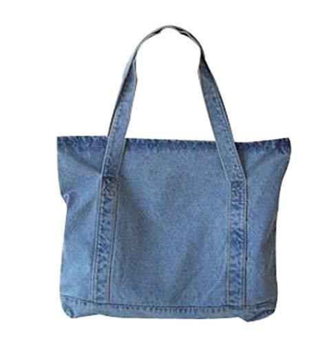 - Ecokaki(TM) Fashion Women Denim Retro Bag Shoulder Bags Tote Messenger Bag, Sky Blue