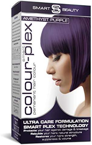 Smart Beauty Tinte de Pelo Permanente, Larga Duración Moda Color con Nutritivo Nio-Active Plex Tratamiento Capilar, 150ML - Ametista Violeta, 150 ...