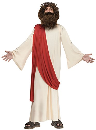 Fun World 110782L Boy's Complete Jesus Costume - Large - Tan - Jesus Robes Costume