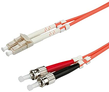 ROLINE Fibre Optic Jumper Cable 62.5/125µm LC/ST, orange 5 m LC