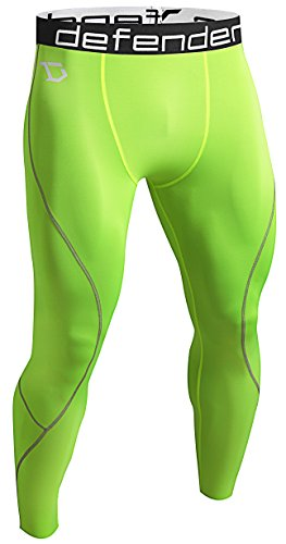 Defender Men's Compression Baselayer Pants Legging Shorts Tights Running Y_M