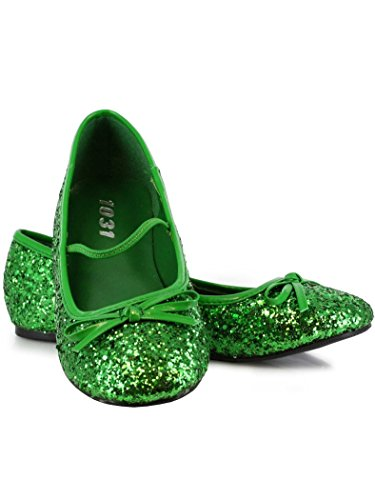 Ellie Shoes 0 Heel Ballet Slipper with Glitter (Young Ellie Costume)