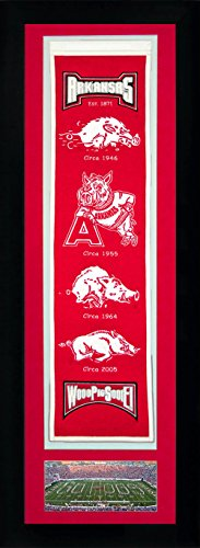 NCAA Arkansas Razorbacks Legends Never Die Team Heritage Banner with Photo, Team Colors, 15