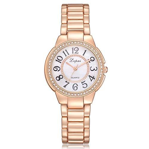 Dial Bracelet Dress Watch - xinhuiqiong Fashion Women Round Dial Rhinestone Bracelet Watches Women Dress Wristwatch