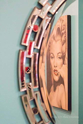 Marilyn Monroe Wall Art Retro Decor Unframed Hollywood Pin Up Girl Print Funky 1950s Mirror Iconic Sex Symbol Actress Reflection 5x7 8x10 8x12 11x14 12x18 16x20 16x24 20x30 24x36 by Nancy J's Photo Creations
