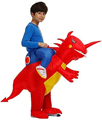 Hamkaw Disfraz de Dinosaurio Inflable, Divertido Disfraz T-Rex ...