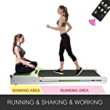 Popsport Smart Treadmill Vibration Platform 3 in 1 Integrate Running Quiet Treadly Treadmill Vibration Plate Folding Digital Portable Under Desk Treadmill Fitness for Home Office