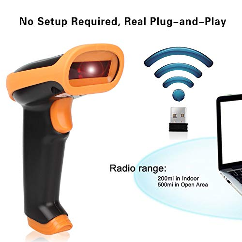Premium Shockproof 2.4GHz Handheld Wireless USB Automatic Laser Barcode Scanner
