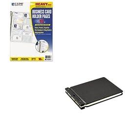 KITCLI61217WLJ24165N - Value Kit - Wilson Jones Raven Vinyl-Guarded Post Binder (WLJ24165N) and C-line Business Card Binder Pages (CLI61217)