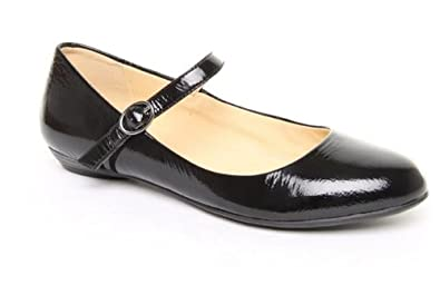 clarks frothy soda ladies black smart flat shoes