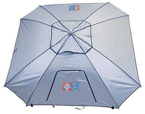 Rio Beach Portable Total Sun Block UPF 50+ 8 ft. Beach Sports Umbrella and Canopy ()