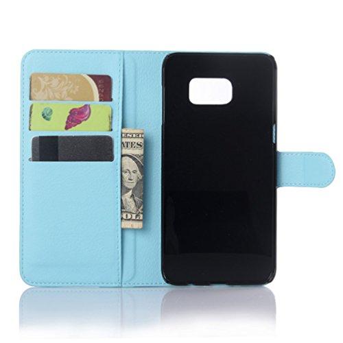 Funda Samsung Galaxy S6,Manyip Caja del teléfono del cuero,Protector de Pantalla de Slim Case Estilo Billetera con Ranuras para Tarjetas, Soporte Plegable,Cierre Magnético(JFC9-5) G