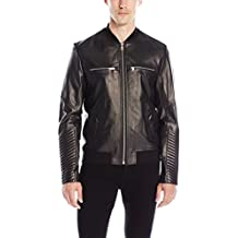 SOIA & KYO Men's Griffin Leather Bomber Jacket