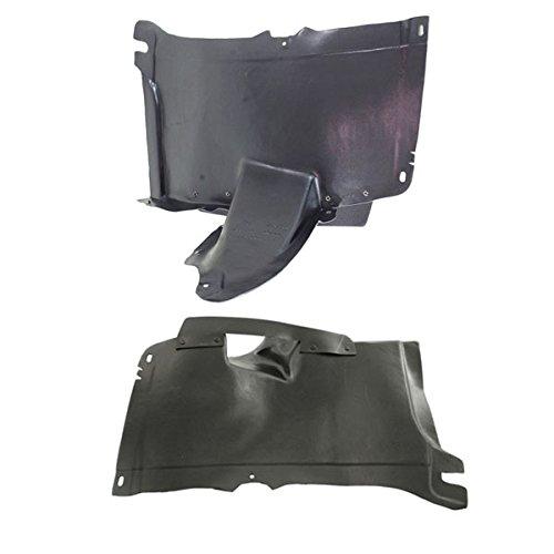 Koolzap For 06-09 VW Rabbit & GTI Front Splash Shield Inner Fender Liner Right Left PAIR ()