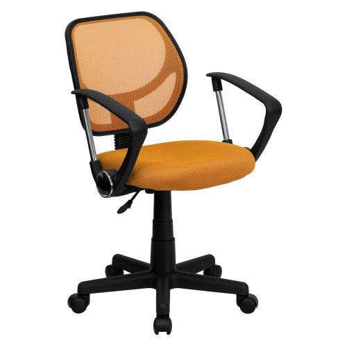 Mid-Back Mesh Task Chair and Computer Chair with Arms Orange