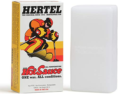Hertel Wax Super Hot Sauce, All Temperature Ski and Snowboard (340g Brick) Can be Used Hot or Cold for Safe, Smooth, Unmatched Performance and Fast Control (Best Way To Wax A Snowboard)